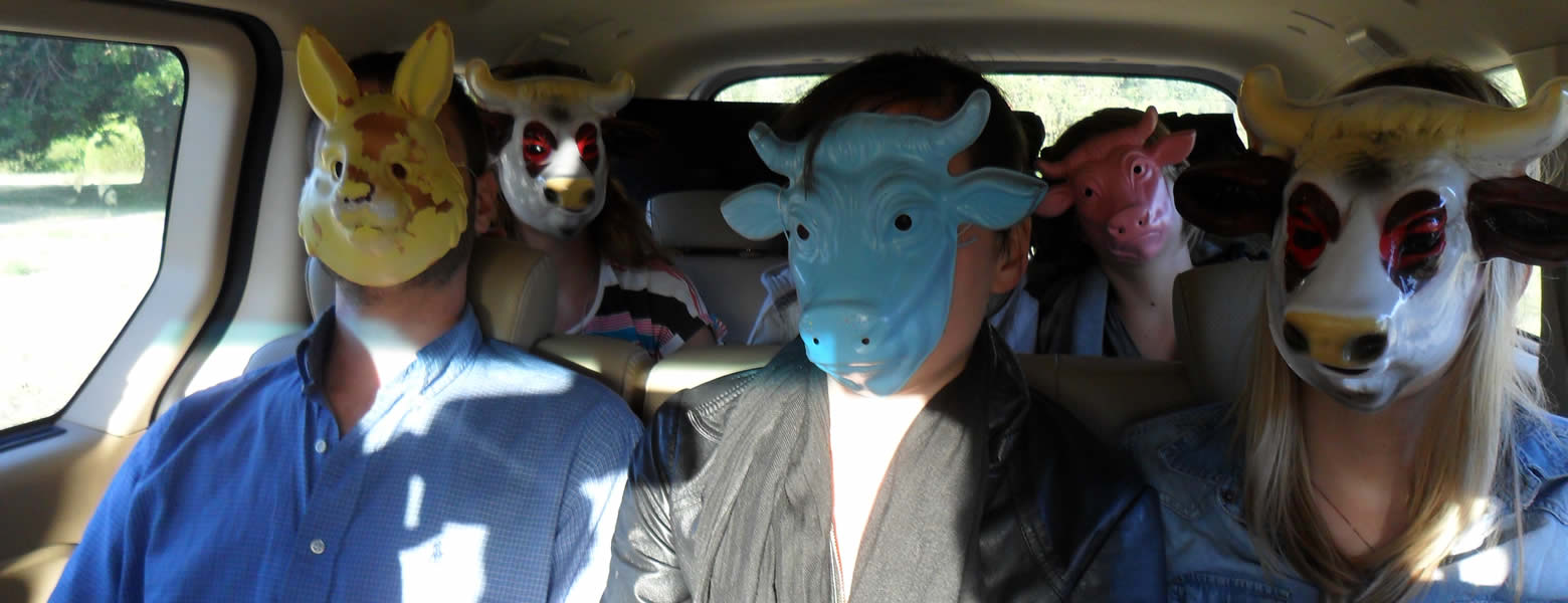 Prinz Productions team in masks